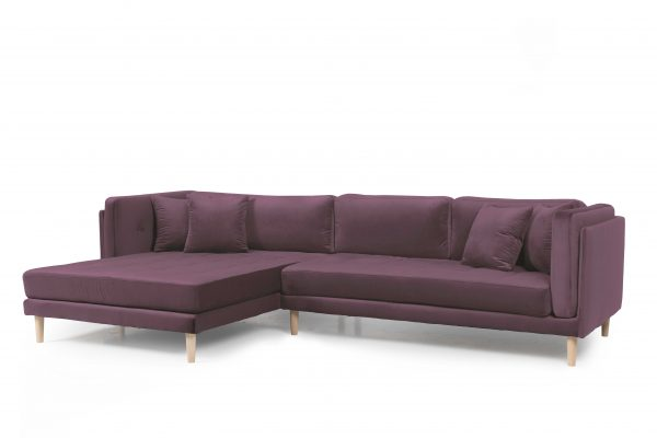 Tampa chaiselong sofa venstrevendt – Velour Riviera 62