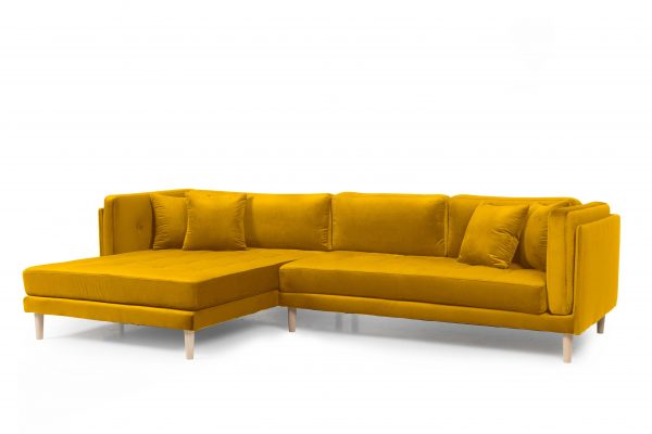 Tampa chaiselong sofa venstrevendt – Velour Riviera 95