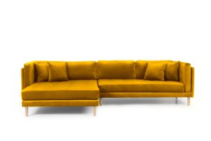 Tampa chaiselong sofa venstrevendt – Velour Riviera 41