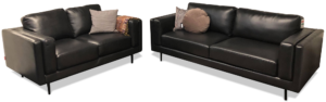 OUTLET Birmingham 3+2 pers. sofa - Sort bonded læder m. pocket fjedre